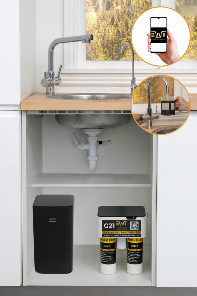 Reverse Osmosis Drinking Water System and Boiling Tap